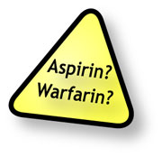 Caution using turmeric with warfarin or aspirin