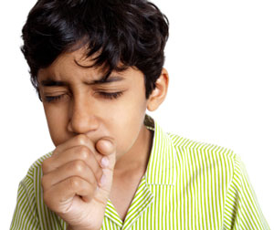 Indian boy coughing