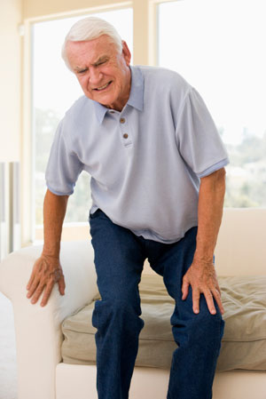 Older man with muscle pain