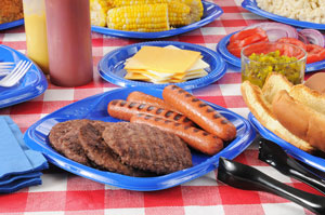 E. Coli may be present on a picnic table with food