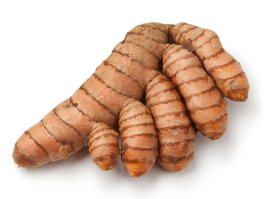 It's easier to peel fresh turmeric if you separate the fingerlings first.